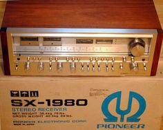 PIONEER SX-1980/, made from c. 1978 - 81. Check the weight of this thing on the box!