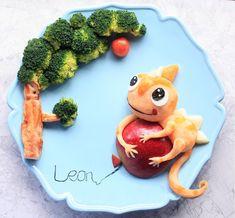 Leon the chameleon food art by Michelle Lim (@foodmakesfun) #camandleon