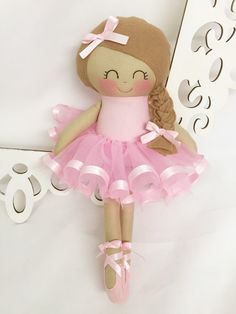 Ballerina Dancing Doll- Pink doll- Cloth Baby Doll