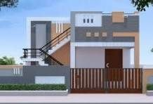 elevations of independent houses House Front Wall Design, Single Floor House Design, Modern Small House Design, Village House Design, Home Design Floor Plans, Duplex House Design, Front Design, Asian House, Beautiful Small Homes