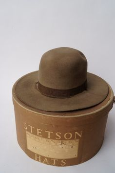 Original Stetson Hat | Early Stetson Hat Original Box : Lot 6602