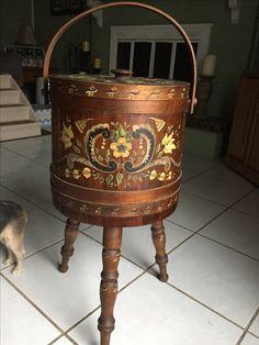 #antiquesewingbasket