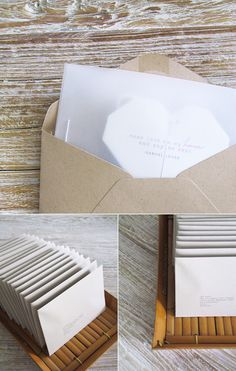 DIY origami heart invitations: http://www.eatdrinkchic.com/post.cfm/the-diy-origami-heart-invitations-are-in-the-mail