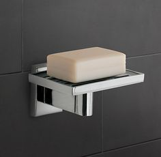 Modern Wall-Mount Soap Dish | Tissue Holders, Soap Dishes & Toothbrush Holders | Restoration Hardware