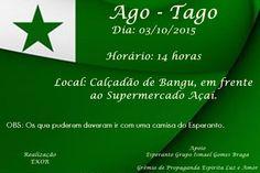 Ago-Tago Esperanto - Bangu - RJ - http://www.agendaespiritabrasil.com.br/2015/09/30/ago-tago-esperanto-bangu-rj/