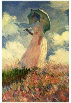 Famous Paintings Claud Monet Woman with a Parasol Fine Art Canvas Giclee Print Classic Colorful Impressionism Summer Portrait Art Decor Claude Monet, Famous Art Paintings, Monet Paintings, French Paintings, Canvas Art Prints, Painting Prints, Big Canvas, Framed Prints, L'art Du Portrait