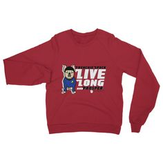 Frenchie Spock Crew Neck Sweatshirt