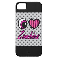Emo Eye Heart I Love Zombies iPhone 5 Cover