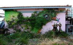 30 obras de arte urbano que interactúan con la naturaleza (I)