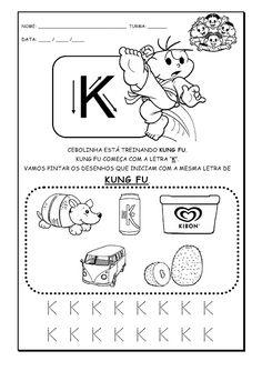 Alfabetizando com Mônica e Turma: Alfabeto - atividades - parte 2 (letras K - O)