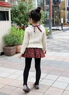 mini skirt but tights keep it elegant.  #designer #kids #fashion