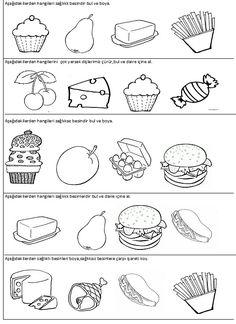 30 En Iyi Sağlıklı Beslenme Görüntüsü Preschool Kindergarten Ve