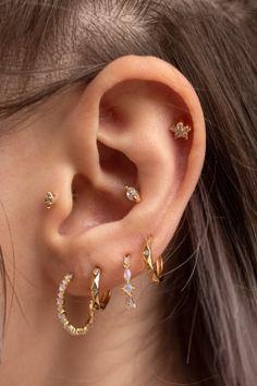 Products - Rue Gembon Pretty Ear Piercings, Ear Peircings, Tongue Piercings, Ear Jewelry, Cute Jewelry, Jewelry Accessories, Piercing Tattoo, Cartilage Piercings, Rook Piercing