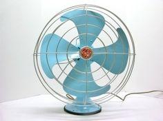 vintage aqua fan by Theme