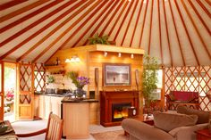 I want to live in a yurt in a rainy place so that I can listen to the rain hit the roof all night long