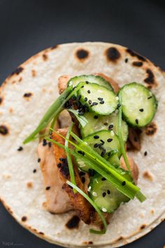 Chicken Teriyaki Tacos are my new slice of foodie-fusion heaven! Crispy chicken tossed in rich teriyaki sauce, topped with a Japanese cucumber salad, and a spicy Sriracha-sour cream. One bite and you'll be hooked too!