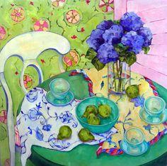 Summer Still Life, Beth Munro - 36 x 36 #floral #botanical #art