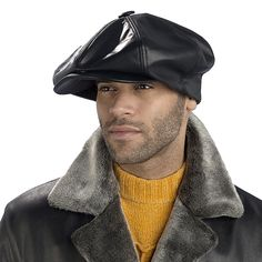 Leather Big Apple Cap Excelled Clothing Mens Accessories 7c3fc4b9ee7