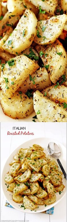 Italian Roasted Garlic & Parmesan Potatoes