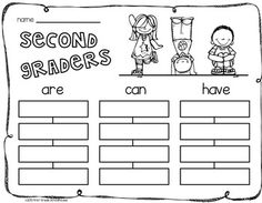 Back to School Writing for Second Graders