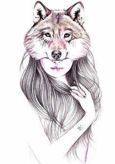 Resultado de imagen para mujer con ojos de lobo para dibujar