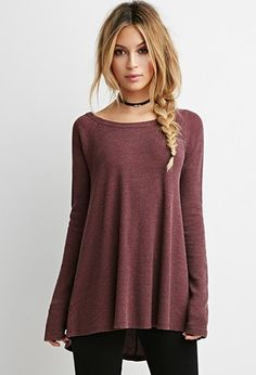 Frayed Thermal Top | Forever 21 - 2000173735