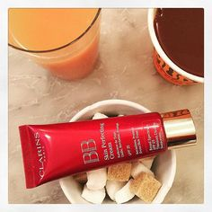 What do iced lattés, double espressos, and #Clarins BB Cream have in common? #Caffeine to help boost your day—and brighten your skin! Another reason to #showusyourclarins.
