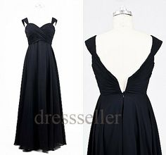 Custom Long Black Prom Dresses Long Evening Dresses Formal Evening Gowns Fashion Party Dress Wedding Party Dress Bridesmaid Dresses 2014