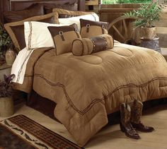 Drop by Lone Star Western Decor right now and examine our collection of Western bedding, like this Super Queen Size Embroidered Barbwire Bed Set! Rustic Bedroom Furniture, Home Decor Bedroom, Home Furniture, Danish Furniture, Cheap Furniture, Furniture Sets, Pink Bed Sheets, Cowboy Bedroom, Western Bedding Sets