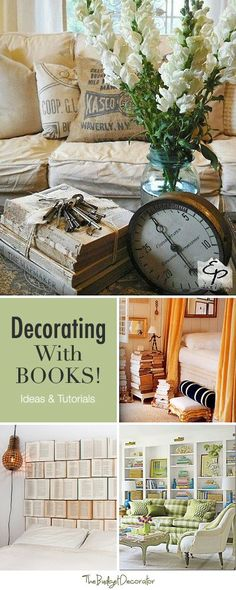 Decorating with Books • Ideas and Tutorials! #books