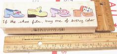 IF THE SHOE FITS, BUY ONE IN EVERY COLOR BY EMBOSSING ARTS RUBBER STAMP #EMBOSSINGARTS #WOODMOUNTEDRUBBERSTAMP Emboss, Stamp, Shoe, Fitness, Crafts, Stuff To Buy, Color, Ebay, Things To Sell
