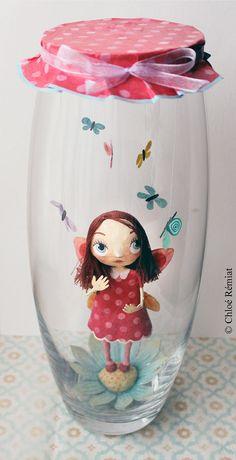 Solène, petite fée du printemps, OOAK DOLL