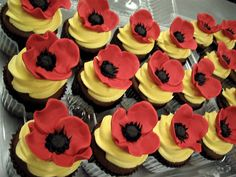 Poppies cupcakes - The Wizard of Oz