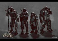 Concept Art for Teenage Mutant Ninja Turtles
