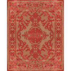 Красный ковер светло-розовых оттенков Pompadour Red