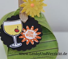 """June - Let's enjoy the summer and some fruity drinks! Stampin' Up! on Lenky & Verzickt using the thinlits """"Curvy Keepsake Box"""" and the Stampin' Up! stamps """"Mixed Drinks"""""""