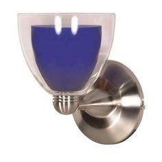 Nuvo Lighting Halogen Brushed Nickel Cobalt Crystal Bullet One-Light Wall Sconce $50