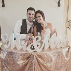 Hey, I found this really awesome Etsy listing at https://www.etsy.com/ca/listing/242147568/8-wooden-mr-and-mrs-wedding-sign-gold