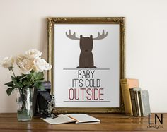 Free printable Baby Its Cold Outside by Christina Cook for Eighteen25.com