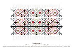 Semne Cusute: MOTIVE: (P35, M6) - model de altita Folk Embroidery, Embroidery Patterns, Knitting Patterns, Hama Beads, Beading Patterns, Pixel Art, Diy And Crafts, Cross Stitch, Textiles