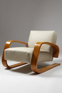 Tank chair designed by Alvar Aalto for Artek, Finland. 1930's. | Modernity
