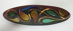 Fused Oval Platter by Glasslight. American Made. See the designer's work at the 2016 American Made Show, Washington DC. January 15-17, 2016. americanmadeshow.com #americanmadeshow, #americanmade, #artglass, #platter