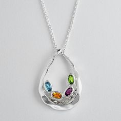 Customized Family Embrace Birthstone Necklace