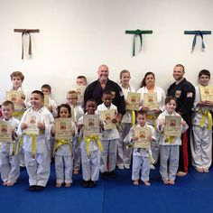 Yellow Belt Promotion! Congratulations on achieving your next level, keep up the hard work!