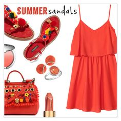 """""""Summer Sandals"""" by simona-altobelli ❤ liked on Polyvore featuring Dolce&Gabbana, H&M, It Cosmetics, Sisley, Valentin Magro, BillyTheTree, polyvorecontest, summersandals and coolcoral"""