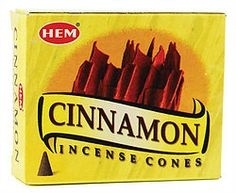 Stock Up Now - $1.00 a box sale on select incense  Cinnamon HEM cone 10 pack Regular Price $2.95  Sale Price $1.00 Offering the spicy fragrance that we all know and love, HEM Cinnamon incense cones can be burned to attract love and wealth, or to simply imbue your living space with the fragrance of cinnamon Available At Magickal Necessities, https://witchesofthecrafts.net