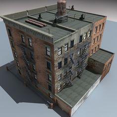 downtown building 3d model