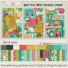 Free-With-Purchase at GingerScraps for the month of March! A sweet GingerBread Ladies Collab! It will be automatically added to your cart when you spend $10.00 or more in the GingerScraps shop. Let It Rain; http://store.gingerscraps.net/GingerBread-Ladies-Collab-Let-It-Rain.html. 04/09/2015