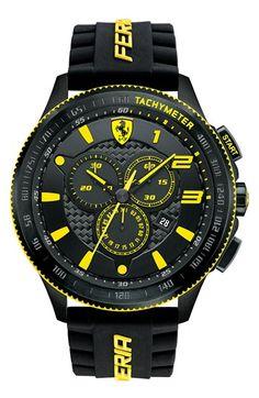 Scuderia Ferrari \'Scuderia XX\' Chronograph Silicone Strap Watch, 48mm | Nordstrom