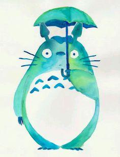 Totoro acuarela
